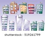 cartoon vector building objects ...   Shutterstock .eps vector #519261799