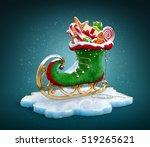magical elf skate full of... | Shutterstock . vector #519265621