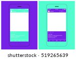smartphone chatting sms... | Shutterstock .eps vector #519265639