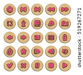 set of vector button for game...