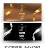 gift vouchers with sparkling... | Shutterstock .eps vector #519269305