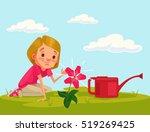 little girl child character...