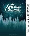 christmas card with a magic... | Shutterstock .eps vector #519270901