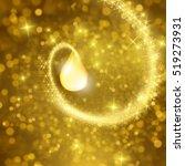 drop of collagen oil solutiion... | Shutterstock .eps vector #519273931