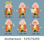 noble medieval aristocrat... | Shutterstock .eps vector #519276205