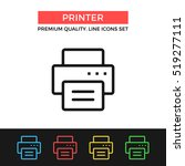 vector printer icon. copy ...