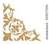 gold vintage baroque corner... | Shutterstock .eps vector #519277291