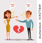 couple man and woman characters ... | Shutterstock .eps vector #519277849