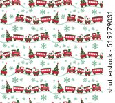 christmas seamless background... | Shutterstock .eps vector #519279031