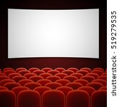 cinema movie hall with white... | Shutterstock . vector #519279535