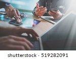 medical technology network team ... | Shutterstock . vector #519282091