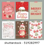 vector collection of christmas... | Shutterstock .eps vector #519282997