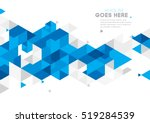 Vector of modern abstract triangular background | Shutterstock vector #519284539