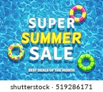 summer sale background with... | Shutterstock . vector #519286171