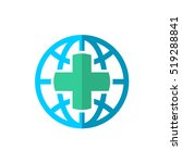 earth globe logo with medical... | Shutterstock .eps vector #519288841
