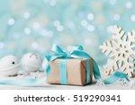 Christmas Gift Box And White...