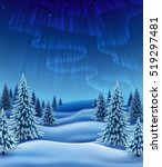 winter landscape with polar... | Shutterstock .eps vector #519297481