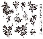 flower illustration material | Shutterstock .eps vector #519298441