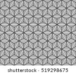 black and white color seamless... | Shutterstock .eps vector #519298675