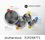 vector infographic company... | Shutterstock .eps vector #519298771