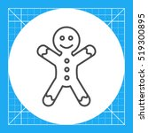 gingerbread man | Shutterstock .eps vector #519300895