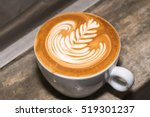 cup of coffee with beautiful... | Shutterstock . vector #519301237