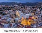 colorful town guanajuato | Shutterstock . vector #519301534
