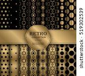dark golden collection of jumbo ... | Shutterstock .eps vector #519302539