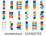 mega set of option step by step ... | Shutterstock .eps vector #519302755