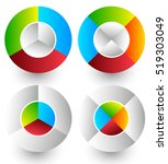 pie chart  pie graph icons.... | Shutterstock .eps vector #519303049