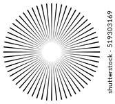 rays  beams element. sunburst ... | Shutterstock .eps vector #519303169