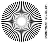 rays  beams element. sunburst ... | Shutterstock .eps vector #519303184