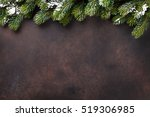christmas stone background with ... | Shutterstock . vector #519306985