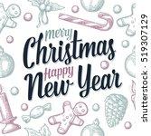 seamless pattern for merry... | Shutterstock .eps vector #519307129