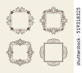 rosette wicker border... | Shutterstock .eps vector #519318325