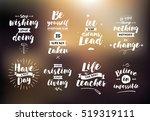 inspirational quotes set.... | Shutterstock .eps vector #519319111