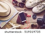 travel accessories costumes.... | Shutterstock . vector #519319735
