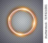 magic gold circle light effect. ... | Shutterstock .eps vector #519321001