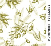 Olives Seamless Pattern Color...
