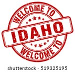 welcome to idaho. stamp. | Shutterstock .eps vector #519325195