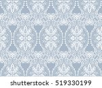 vintage delicate lace pattern.... | Shutterstock .eps vector #519330199