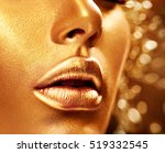 fashion art golden skin woman... | Shutterstock . vector #519332545