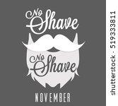 no shave november hair  beard... | Shutterstock .eps vector #519333811