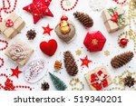 christmas background with... | Shutterstock . vector #519340201