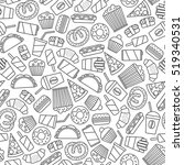 seamless pattern with fast food ... | Shutterstock .eps vector #519340531