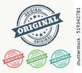 original rubber stamp set in... | Shutterstock .eps vector #519342781