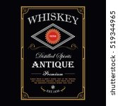 whiskey vintage border antique... | Shutterstock .eps vector #519344965