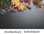 christmas cookies with candy ... | Shutterstock . vector #519345019