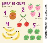funny fruits. learn to count... | Shutterstock .eps vector #519352825
