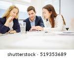 business team planning a... | Shutterstock . vector #519353689